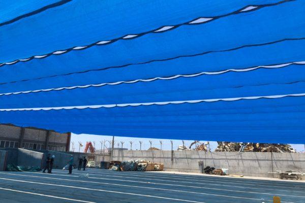 מפרש הצללה כחול