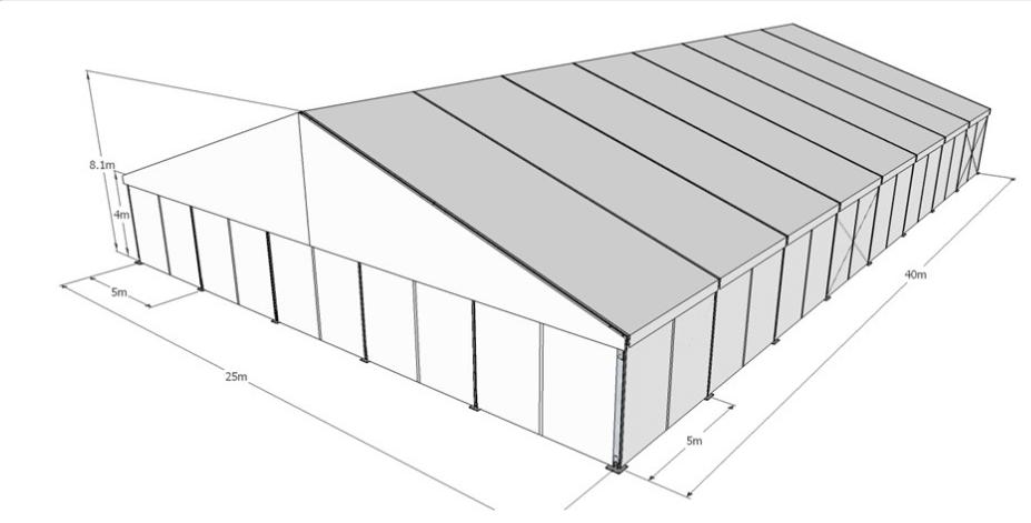 שלב התכנון של אוהל קונסטרוקציה