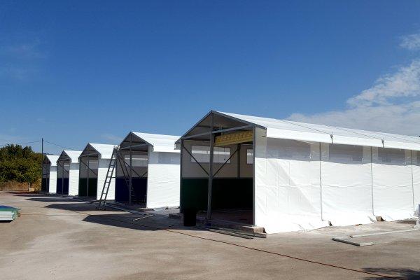 אוהל אחסנה לתעשייה