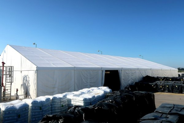 אוהל אחסנה לצרכים לוגיסטיים