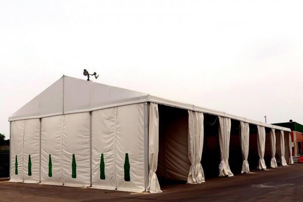 מגוון אוהלי אחסנה למפעלים